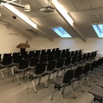 A large room for presentations